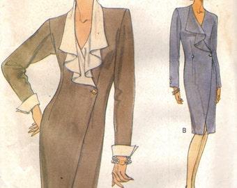 Vogue 8754 Mock Wrap Dress ©1993 VERY EASY VOGUE