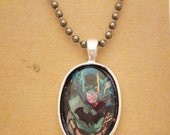 Batman recycled comic book pendant
