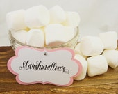 10 Large Light Pink Custom Candy Buffet Labels - Tags - Custom  Dessert Table Tags