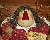 Primitive Folkart Annie Angel Shelf Sitter