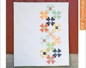 Modern Quilt Pattern - Holland Mills - PDF