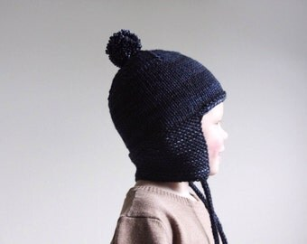 KNITTING PATTERN PDF File - Toddler Knit Hat Pattern - Toddler Knitting Patterns - Baby Helmet Hat Knitting Pattern - Childrens Hat Pattern