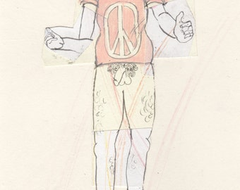 SALE! Dress Up For Peace (original drawing, 2015)