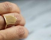 S t e l l i t a  2 . Vermeil Ring.  silver and gold ring.