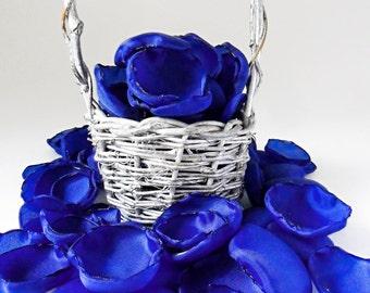 Dark blue flower petals, 108 royal blue handmade wedding flower petals, wedding decorations, flower girl petals, home decor, table scatter