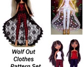 Wolf Out Clothes Pattern Set for 10 1/2 inch and Similar Size Fashion Dolls