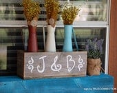 Rustic Table Boxes, Wedding Reception Wood Centerpiece, Flower Vase, Flower Box, Table Decorations, Wedding Sign, Reception Sign, Custom