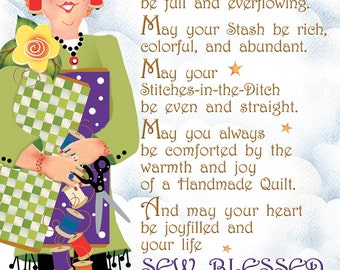 Greeting Card - Quilter's Blessing