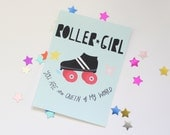 Roller Girl Sticker Matte Finish
