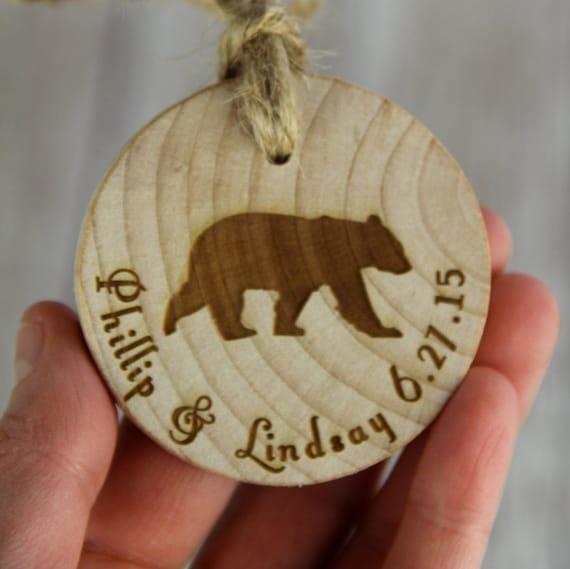 Rustic Ornament Bear Ornament by SpruceandHemlockco on Etsy