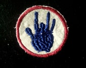JERRY Garcia Handprint - NEW SMALL size - handmade  Grateful Dead embroidered patch