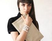 geometric cuff // CASSANDRA // white cuff bracelet / lace cuff / mod jewelry / minimalist / gift under 30