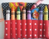 TODDLER SIZE Crayon Roll Sesame Street  Includes 8 Large Crayons
