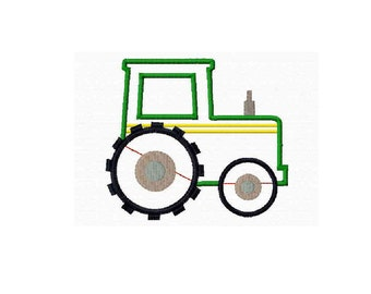 INSTANT Download - Tractor applique embroidery design - 4 sizes