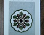Wool/Wool Felt Applique Pattern - Pine Cones