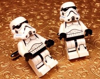 Wedding Cuff links, Groom, Wedding, Full Body Storm Trooper silver toned cufflinks in gift box