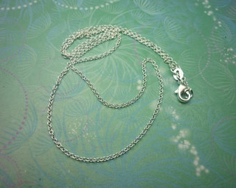 Plain Sterling Silver Chain 18""
