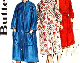 1960's Robe wih large Platter collar Bust 34 Butterick 2887