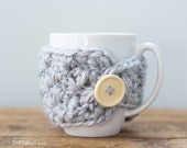 Light Grey Mug Cozy, Grey Mug Cozy, Mug Warmer, Mug Cover