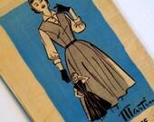 Vintage 1950s Dress & Blouse Pattern Marian Martin 9190 Bust 34 Mail Order Pattern Jumper Dress Pattern