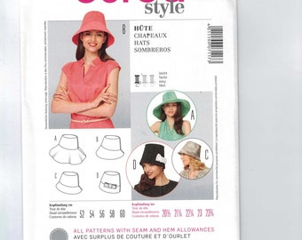 Craft Sewing Pattern Burda 7117 Misses Wid Sundhat Bucket Hat Easy UNCUT