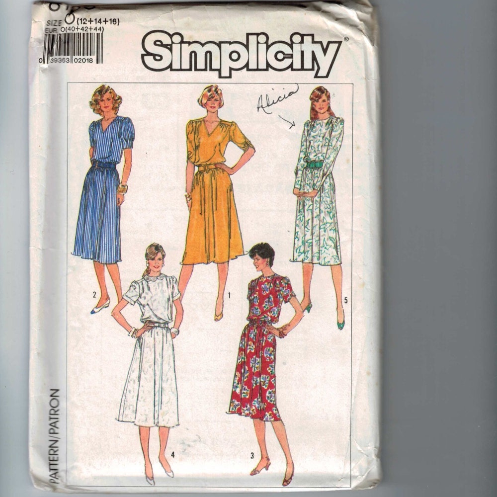 1980s Sewing Pattern S...