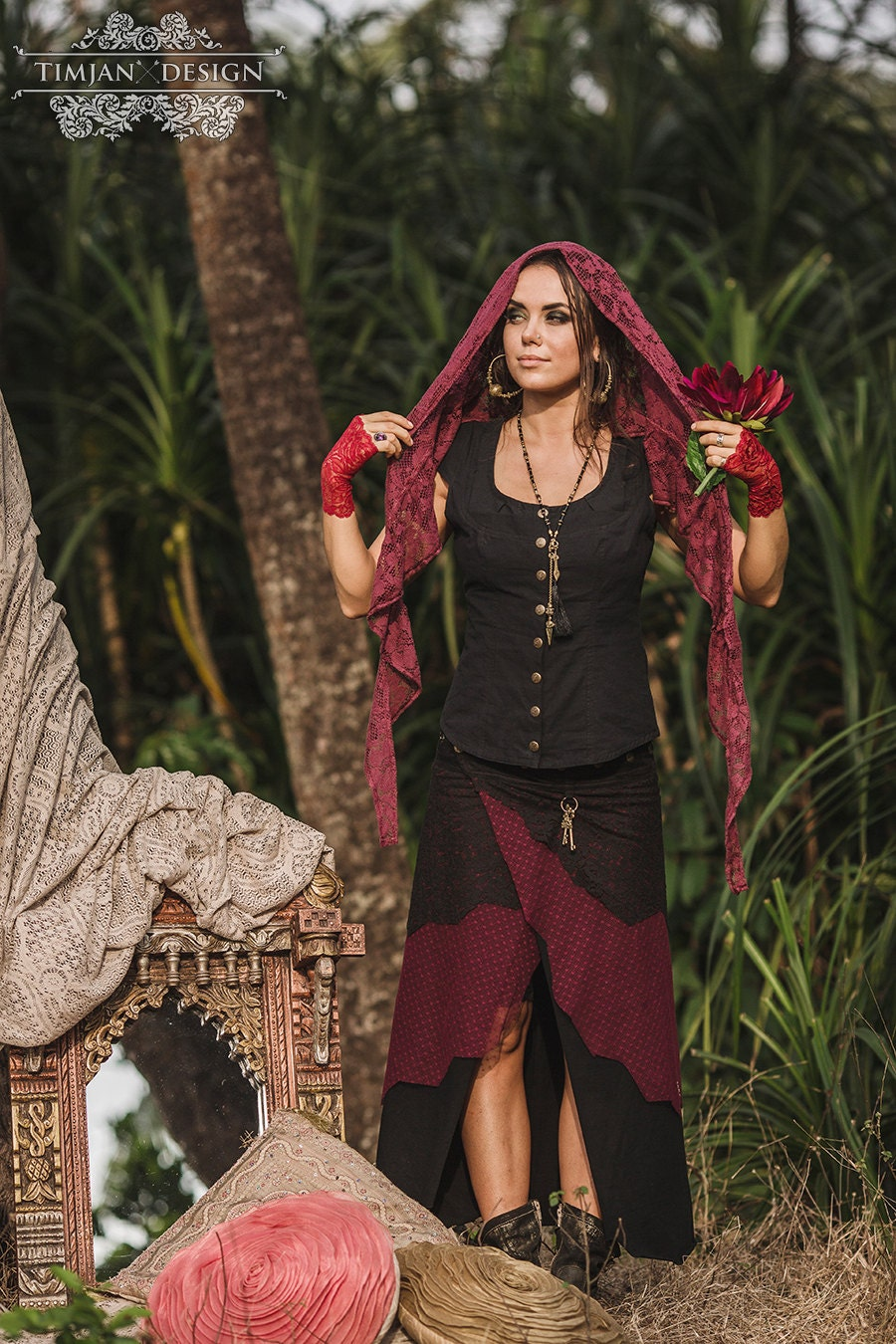 Sale LONG PIXE SKIRT Faery fairy costume Boho Hippie