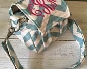 Compact Small Digital Padded Chevron Camera Bag by Watermelon Wishes