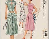 "Vintage Sewing Pattern 1950's Ladies Dress McCall 8512 Size 33"" Bust - Free Pattern Grading E-book Included"