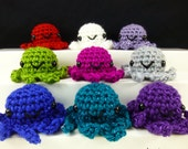 Amigurumi Octopus / Crochet Octopus / Cute Octopus Plush - Choose Your Own Baby Octopus Plushie, Sparkly Glitter Gem Colors - Made to Order