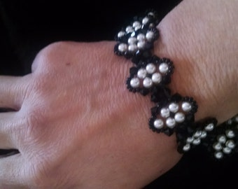Bracelet, Jewerly Black onyx beaded