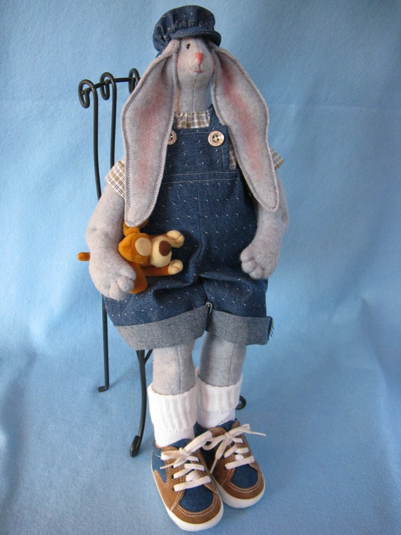 Cloth Doll E-Pattern 19inch Big Boy Bunny Rabbit