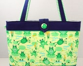 Custom Made Especially For Kathryn :) Handmade Whimsical Tote Purse, BunkyBags USA