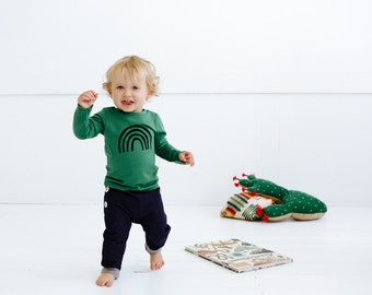 Rainbow merino kids top