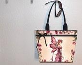 Fairy Bride Amy Brown tote bag, book tote, large purse, canvas tote, shoulder bag