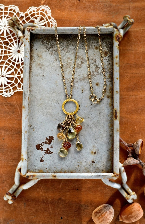 harvest festival necklace autumn gemstone necklace by ...