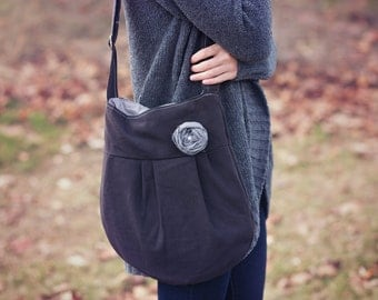CONCEALED CARRY Purse-- Black Small Cross Body CCW Handbag, Conceal Carry Purse, Classic Black concealed carry handbag, concealed carry tote