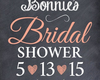 DIGITAL FILE: Custom Bridal Shower Poster