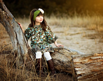 Girl's peasant dress, Bohemian dress, toddler dress, Spring dress, calico, BOHO, Toddler dress, sizes Newborn through 6X