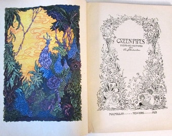 Greenpipes - Poems and Pictures - J.R. Paget-Fredericks - 1929 - Art nouveau