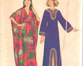 Simplicity 5315 1970s Misses CAFTaN Pattern Kimono Sleeve Womens Vintage Sewing Pattern Size Medium Bust 34 - 36 OR Small