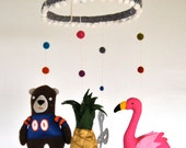 Your Favorite Items in One Awesome Custom Baby Mobile // Each Item Made to Order Just for You // 3-D Hanging Decor for Baby's New Room