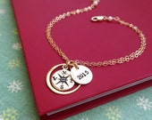 Compass bracelet, Graduation gift, 2015 graduate, good luck, journey, gift for grads, college grad, high school graduation gift, otis b