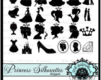 Princess Clipart, Royal Princess digital stamp, Princess Birthday Party, png, horse and carriage, diamond