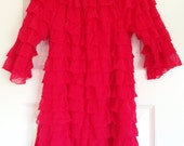 Size 5 Christmas Red Ruffle Dress