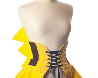 Electrifying Catch Cincher Corset Skirt Cosplay Costume
