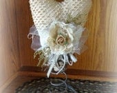 Victorian Inspired Chenille Heart decoration