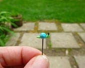 Fairy garden micro mini accessory - tiny glass snail - made to order
