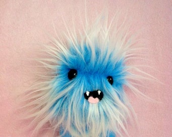 Blue Monster - Weird Plush Furry Chevron Toy