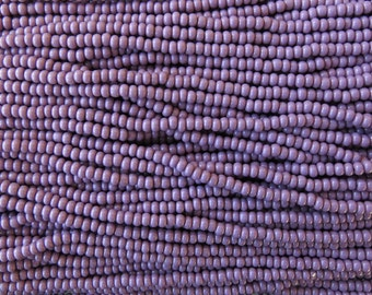 8/0 Opaque Medium Purple Czech Glass Seed Bead Strand (CW34)